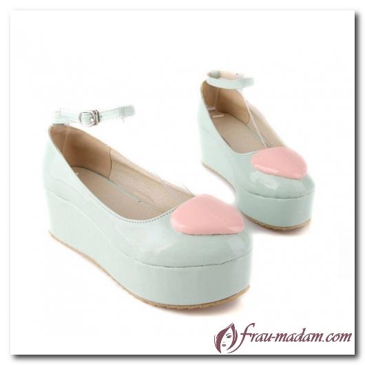 Туфли на ровной платформе