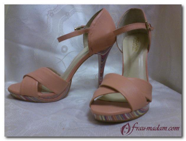 Туфли на скрытой («разорванной») платформе