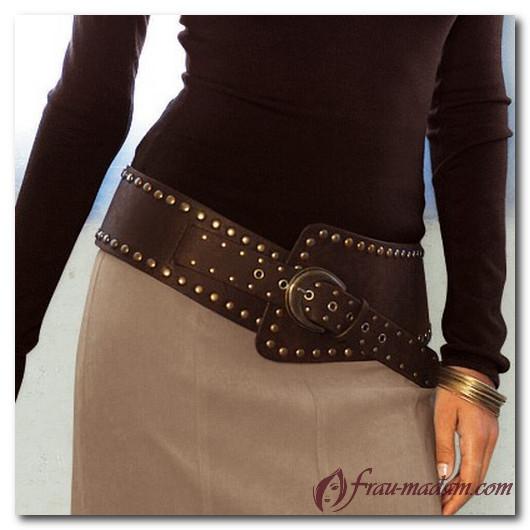 Классический женский кожаный ремень