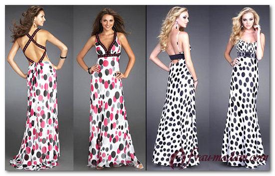 фасоны платьев в горошек