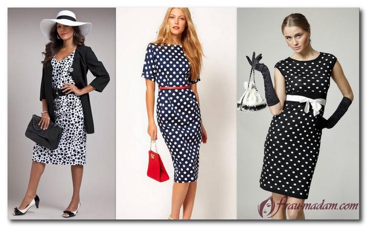 Как выбрать красивое платье в горошек? Советы стилистов