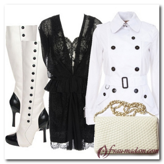 белые сапоги и черное