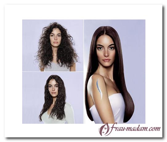 как выпрямить кудрявые волосы, выпрямление кудрявых волос