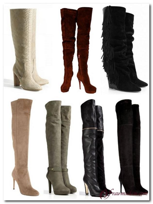 модные зимние женские сапоги 2015-2016 фото