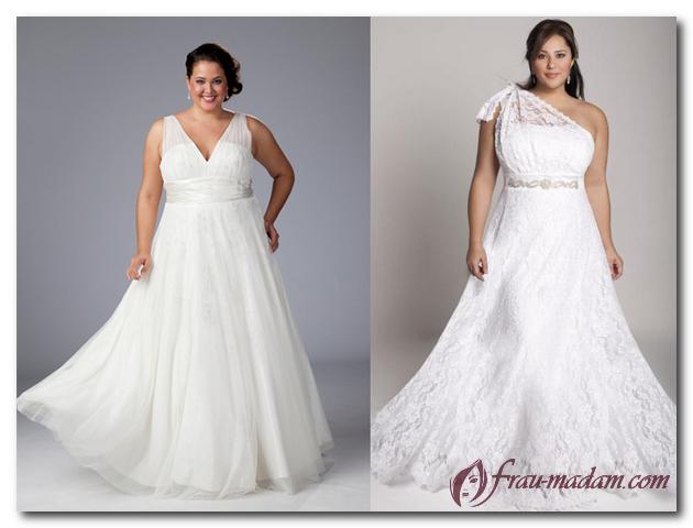 свадебное платье для полного прямоугольника