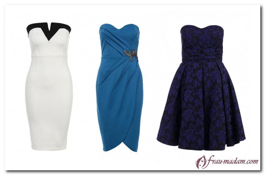 платье бюстье для прямоугольной фигуры