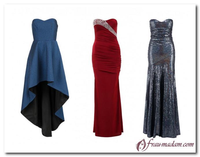 платье бюстье длинные для прямоугольной фигуры