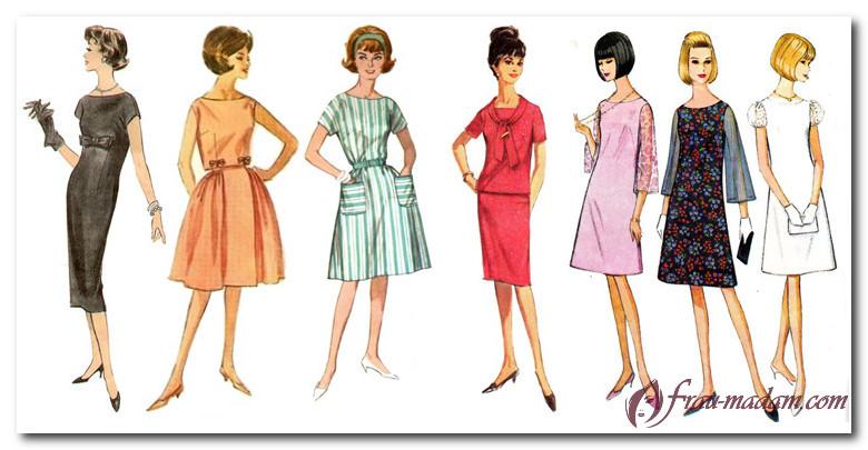 Рисунок силуэты платьев