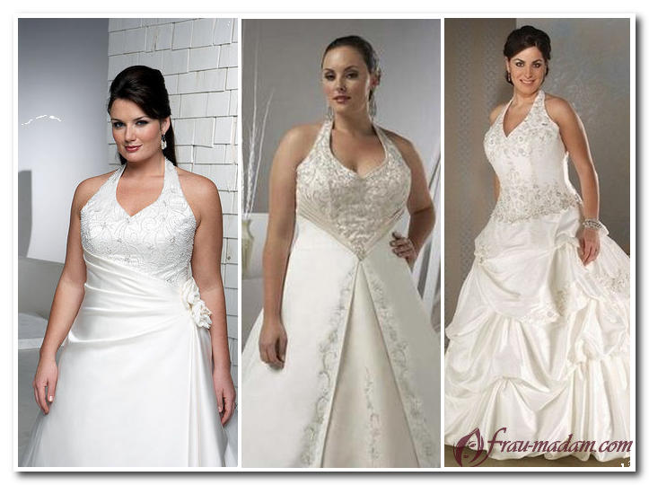 свадебное платье для полных песочных часов
