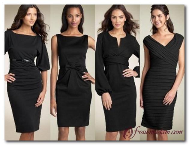 платье для типа фигуры прямоугольник маленькое черное