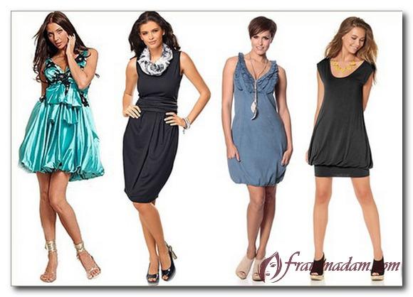 платья для полных женщин с фигурой груша