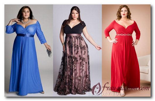 Платье с завышенной талией для полных