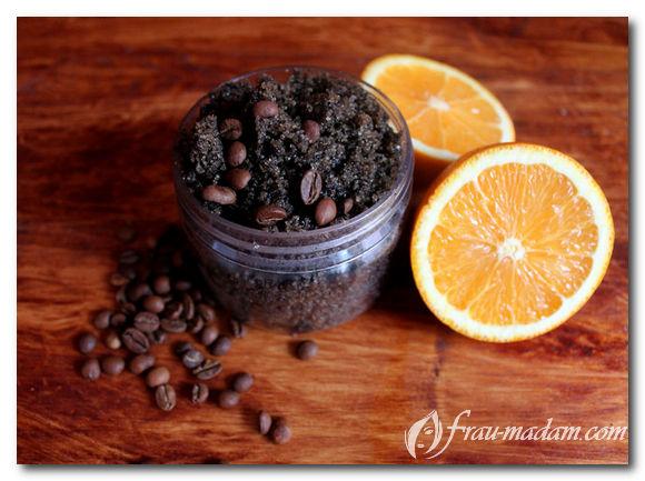 антицеллюлитный скраб из кофе в домашних условиях