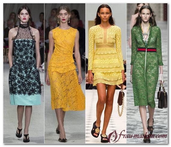тренды весна лето 2016 женская одежда