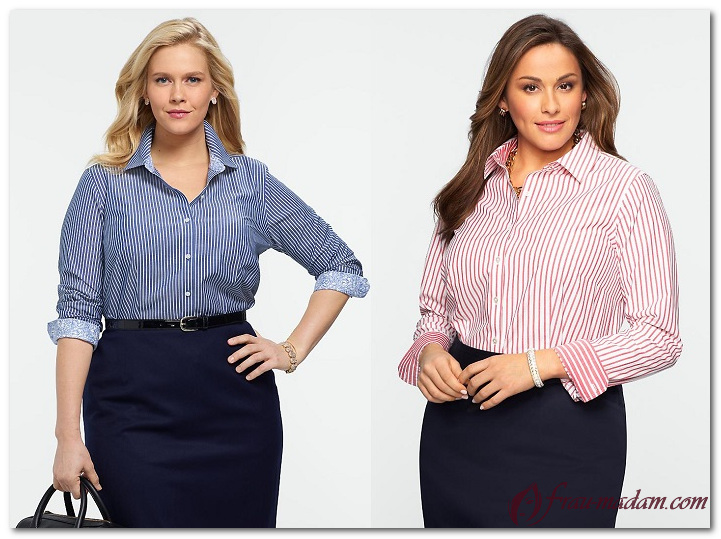 деловая женская одежда больших размеров