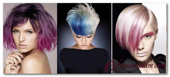 покраска волос омбре на короткие волосы фото
