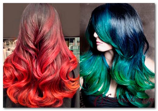 покраска волос амбре картинки