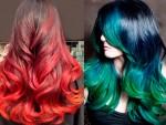 Покраска омбре (амбре) на черные волосы: виды и техника