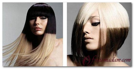 амбре окрашивание волос фото на темные длинные