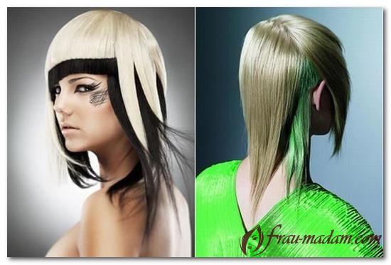 варианты окрашивания волос в два цвета фото