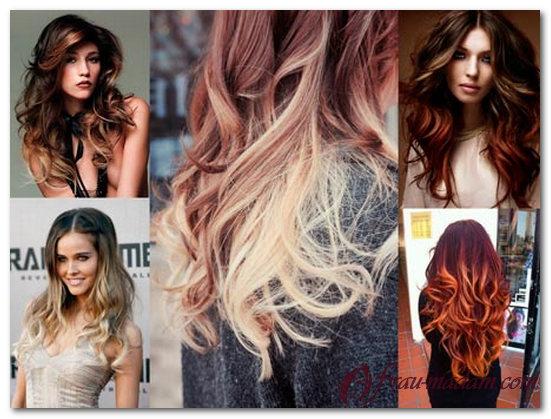 Покраска волос в два цвета, фото. Двойное окрашивание волос