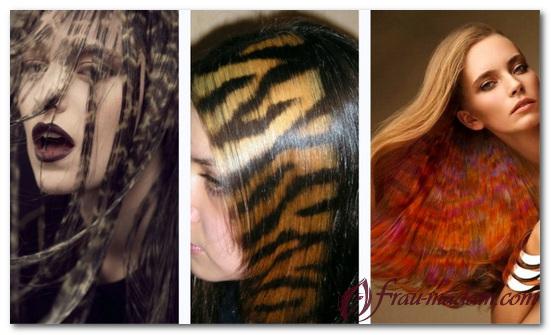 креативная покраска волос фото