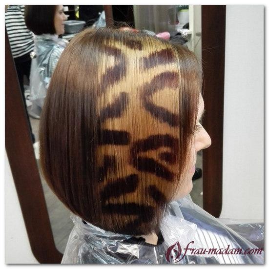 блочное окрашивание волос