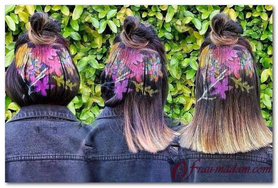 креативная окраска волос