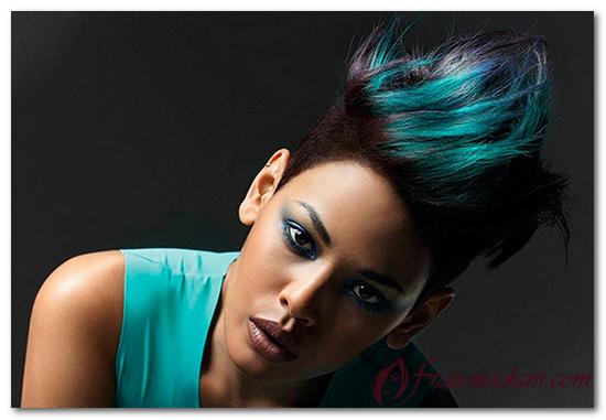 необычная окраска волос