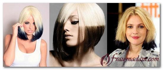 черно белое окрашивание волос фото