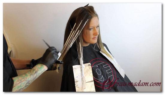 покраска волос амбре технология видео