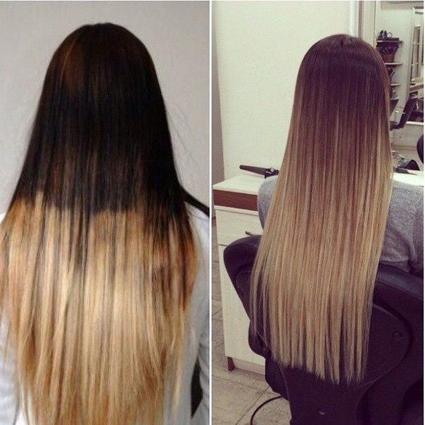 техника амбре окрашивание волос