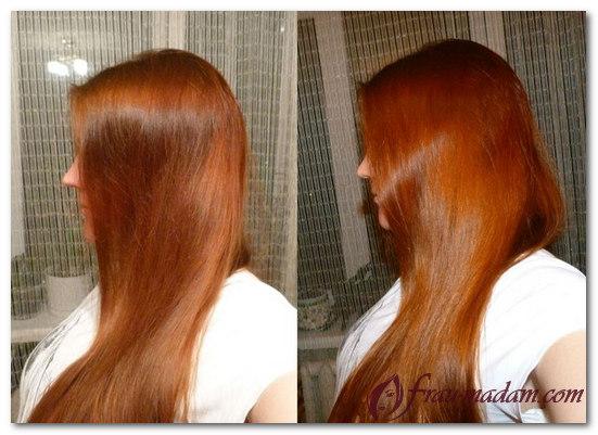 Басма для волос оттенки фото до и после