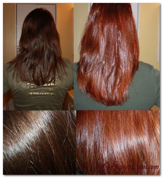 окрашивание волос хной в рыжий цвет