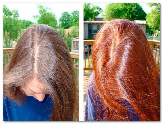 покраска волос хной в домашних условиях