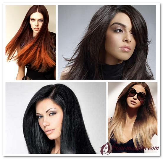 креативное окрашивание длинных волос