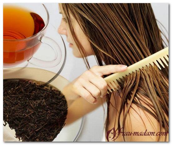необычное окрашивание темных волос