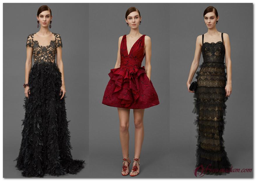вечерние платья Marchesa Notte 2016-2017