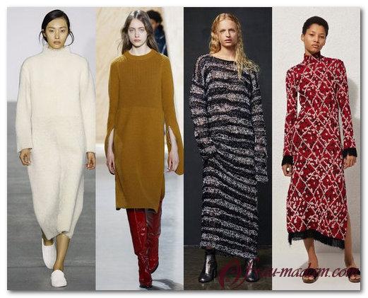 5e91718679b Красивые платья  тенденции моды в сезоне осень-зима -2018. модные платья  осень зима 2016 2017