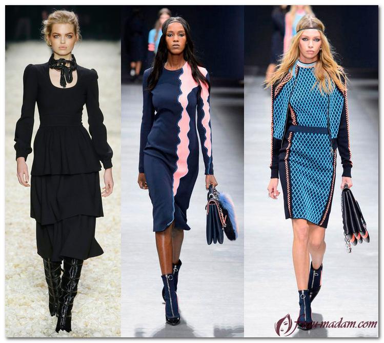 Офисные платья 2017 года модные тенденции