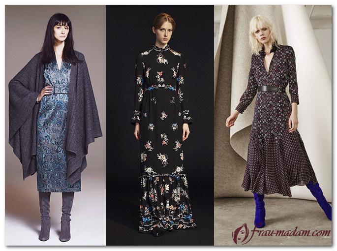 мода осень зима 2016 2017 платья
