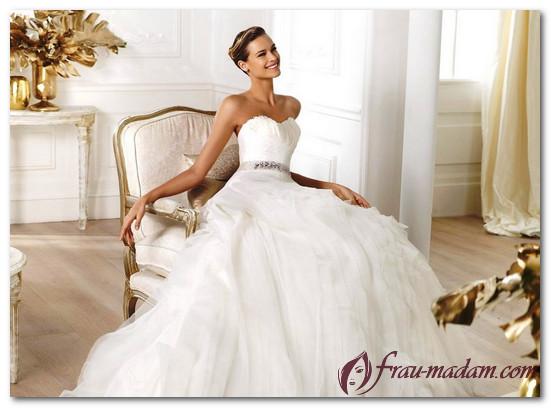 модные свадебные платья 2017 молочного цвета