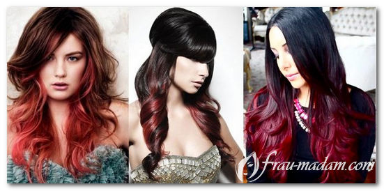 черно красное окрашивание волос