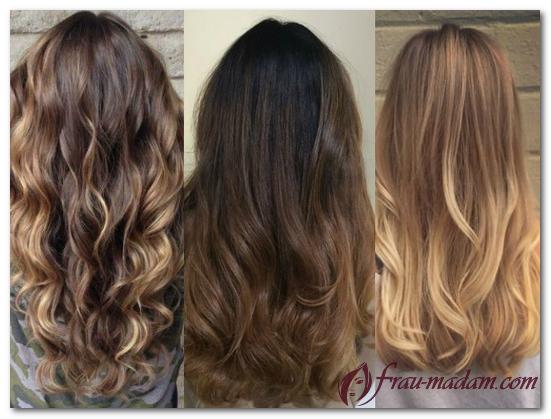 модное окрашивание волос 2016