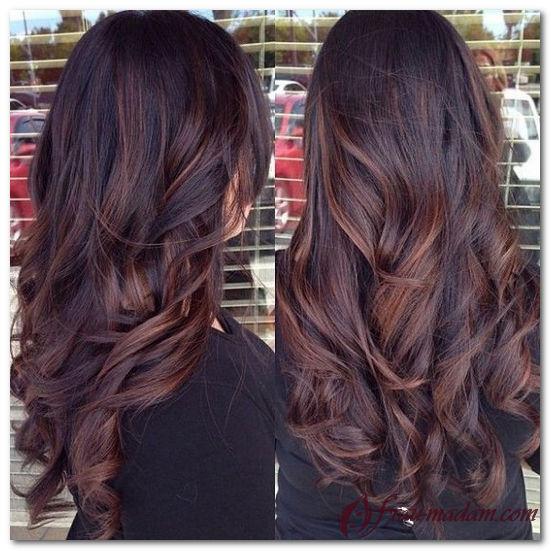 покраска волос темных фото
