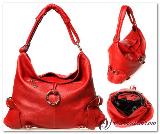 красная сумочка с чем носить