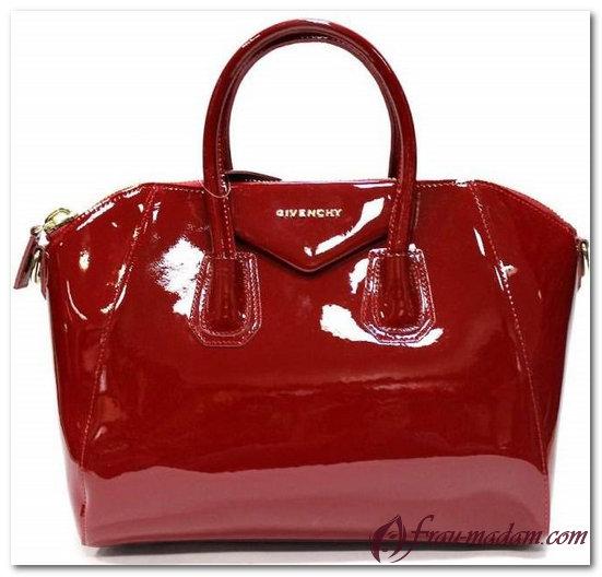 givenchy сумка красная лаковая