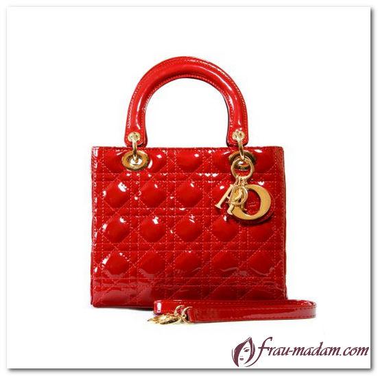 сумка диор красная