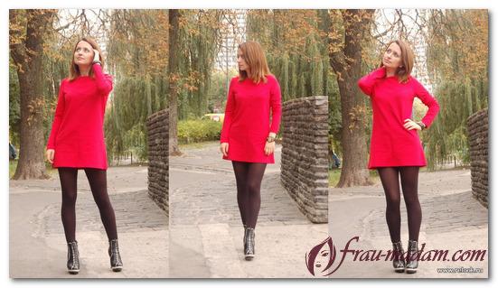 колготки к красному платью фото