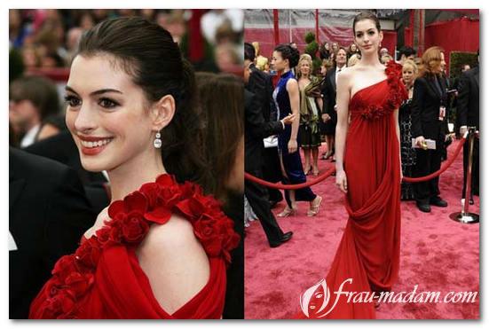 макияж к красному платью для русых
